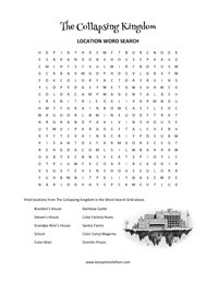 Word Search from The Collapsing Kingdom