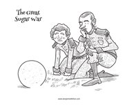 Coloring page from The Great Sugar War