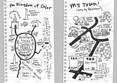 Maps of the kingdom from The Collapsing Kingdom