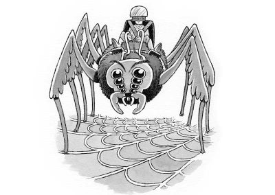 A spider rider from The Collapsing Kingdom
